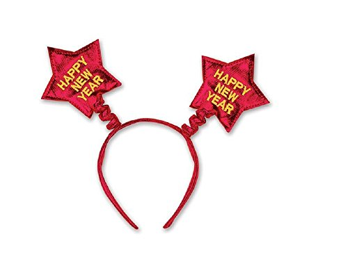 [Happy New Year Star Boppers Headband (Red)] (Happy New Year Boppers)