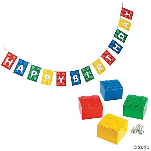 Building Blocks Deluxe Birthday Decoration