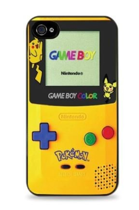 Pikachu Gameboy Apple iPhone 5C Hardshell Case - Black - Shipping Estimate Usps