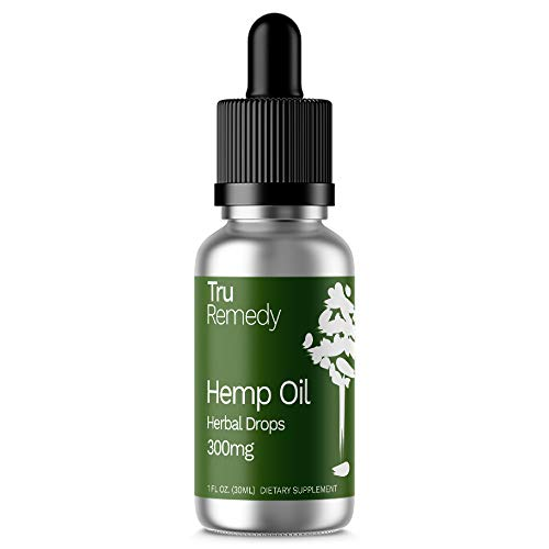 Liquid Hemp Oil Supplement with Dropper: Natural Remedy for Anxiety, Stress and Pain Relief and Sleep Support - Non GMO Herbal Extract Drops with Omega and MCT Fatty Acids - 300 MG, 1 Fluid Ounce