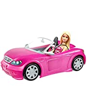 Barbie Convertible Vehicle and Doll Pack
