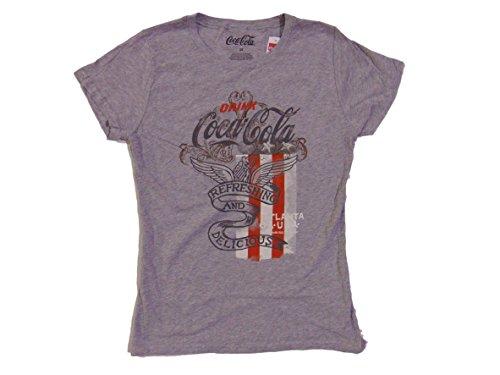 Price comparison product image Coca-Cola MAD Engine Junior Girls Patriotic Refreshing and Delicious T-Shirt (L)
