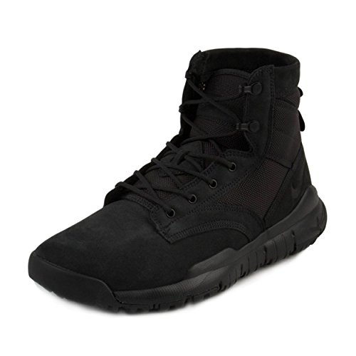 Men Black Leather Boots (Nike Mens SFB 6