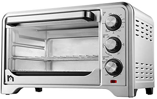 New House Kitchen Toaster Countertop Convection Stainless Steel Oven w/Variable Temperature Control;...