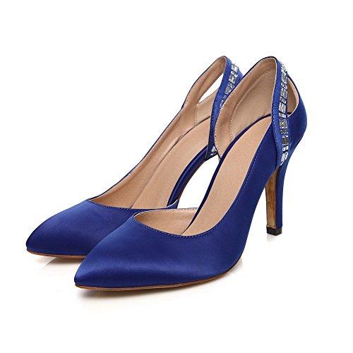 Haut Pointu À Souple Bleu Légeres Mosaïque Matière Femme Talon Chaussures Tire Agoolar 6fIqOwn