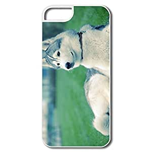 IPhone 5S Case, Husky Grass White Cover For IPhone 5/5S