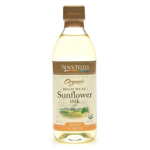 Spectrum Naturals Organic Sunflower Oil 16 oz (Pack of 2) by Spectrum