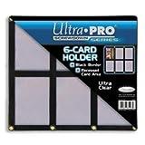 Ultra Pro UPSCR6CD Screwdown - Black & Clear Frame - 6-Card Black Holder