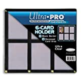 Ultra Pro UPSCR6CD Screwdown - Black & Clear Frame - 6-Card Black Holder