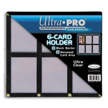 Black /& Clear Frame Ultra Pro UPSCR6CD Screwdown 6-Card Black Holder