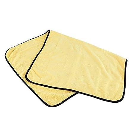 Toallas de microfibra amarillas absorbentes para lavar el coche de 92 cm x 56 cm: Amazon.es: Bricolaje y herramientas