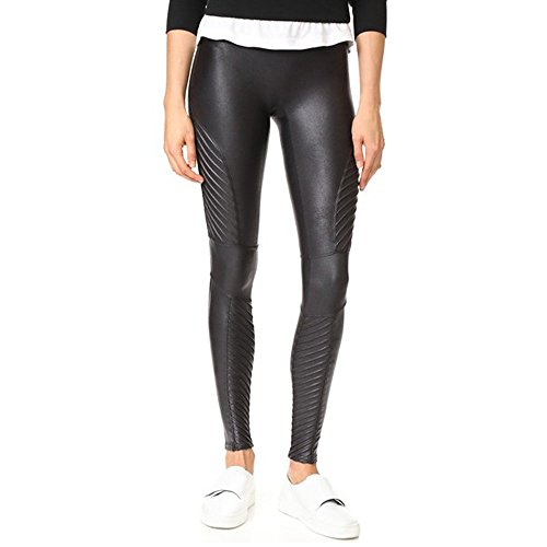 Spanx Faux Leather Moto Leggings in Very Black (Large, Very Black)