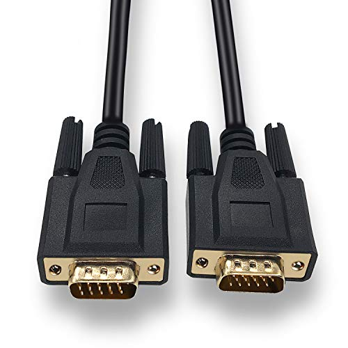 FUHAIHE 1.8m VGA Male to Video coaxial Monitoring Cable with ferrite core Gold-Plated Connector Supports 1080P Full HD, Suitable for projectors, HDTVs, Monitors and More VGA-Enabled Devices