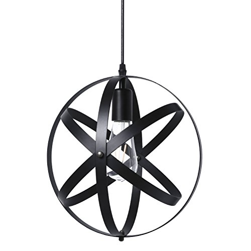 Black Globe Pendant Light in Florida - 9