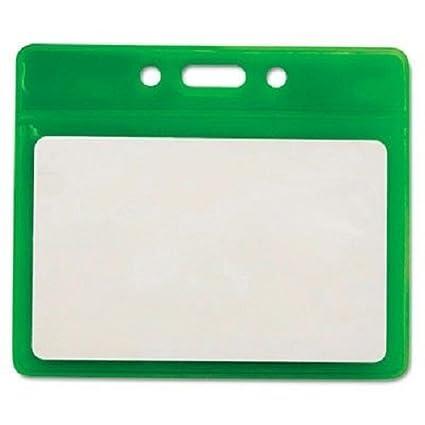 amazon com advantus reflective badge holder horizontal 3 5 x 2 5