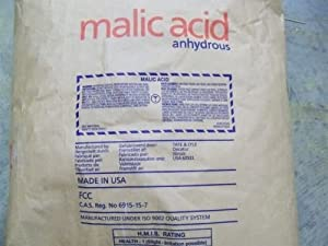 Malic Acid Anhydrous by Tate & Lyle Lot of 250 lbs