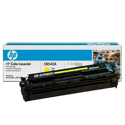 HP CB542A Color LaserJet CM1312 CP1217 CP1515 CP1518 Toner Cartridge (Yellow) in Retail Packaging