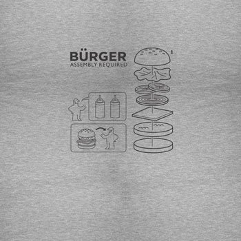 Planet Nerd - Bürger Assembly required - Herren Langarm T-Shirt, Größe L, grau meliert