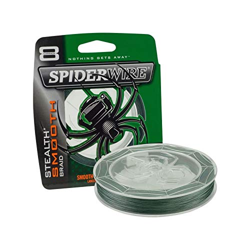 Spiderwire Scsm30G Smooth Stealth Fishing Bait, Moss Green, 300 yd (Spider Fishing Line)