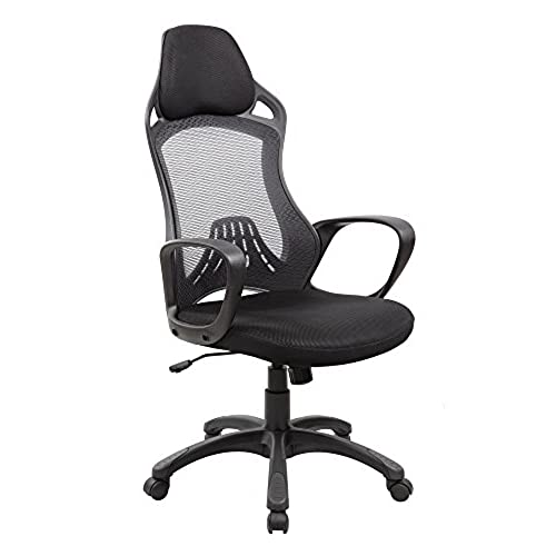 EuroStIle Ergonomic High Back Executive Very Good Quality Nylon Mesh Swivel  Office Chair With Headrest 8148. By Anji EuroStile Furniture