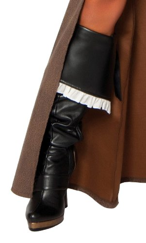 Deluxe Pirate Boot Covers (Roma Costume Deluxe Pirate Captain Boot Cover, Black, One Size)