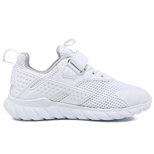 GUBARUN Kids Running Shoes Boys and Girls Lightweight Comfortable Walking Sneakers(12.5, White) by GUBARUN (Image #6)