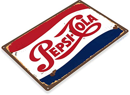 (Tinworld Tin Sign Pepsi Cola Rustic Retro Soda Metal Sign Decor Kitchen Cottage Cave A563)