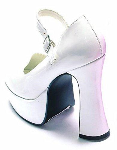 Ellie Shoes Women's 557-EDEN Platform, White, 6 M US (Adult Shoes White Jane)