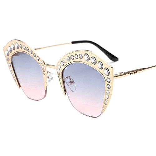 Couleur X498 élégantes de Trend personnalité Dames Soleil 3 Lunettes 4 Lunettes Soleil coréennes de Sunglasses Lunettes Ronde des ZwqR6w