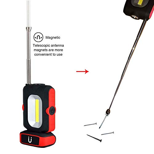 Portable LED Work Light with Picker, WOOPHEN Multi-use COB Flashlight, Magnetic Base, Battery-Operated 5000K Daylight,for Car Repairing,Wild Camping, Blackout and Emergency by WOOPHEN (Image #4)