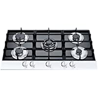 Windmax New 36 Black Electric Tempered Glass Built-in Kitchen 5 Burner Gas Hob Cooktops