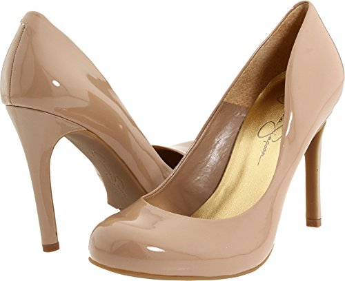 Jessica Simpson Women's Calie Nude Patent 9 W US W (Leather Jessica Platforms)