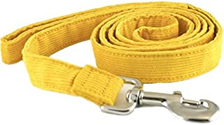 product image for The Good Dog Company Hemp Corduroy Leash - 6 ft (1 Inch Width, Marigold)