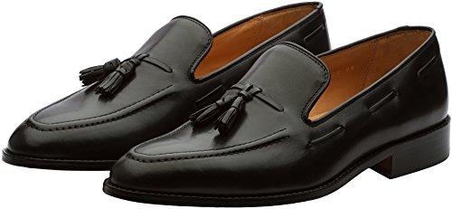 3DM Lifestyle Men's Tassel Slip-On Leather Loafer US 11 - 11.5 Black
