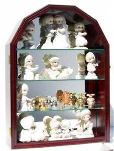 - Arch Shape Curio Wall Cabinet Display Case With Glass Door Solid Wood