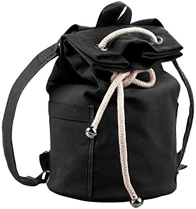 Drawstring Sports Bag Backpack Yoga backpack Shoulder Rucksack,Workout Bag Lightweight Beach Bag Gymsack String Bag for Men and Women Soccer Basketball (BlackB