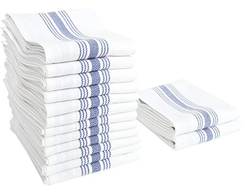 Stripe Kitchen Dish Towel - Value Basics Herringbone Stripe Kitchen Towel Set, 15