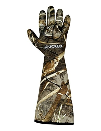 STORMR Realtree Max 5 Stealth Gauntlet Neoprene Decoy Water Proof Hunting Gloves (Realtree Max 5, Large) ()