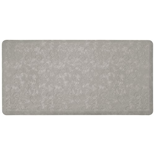 Chef Gear Marni Embossed Gelness Mat, 20 x 39, Gray