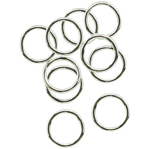 6mm Closed Jump Rings - Cousin Plated Silver Elegance 28-Piece Silver Plate 6mm Closed Jump Ring