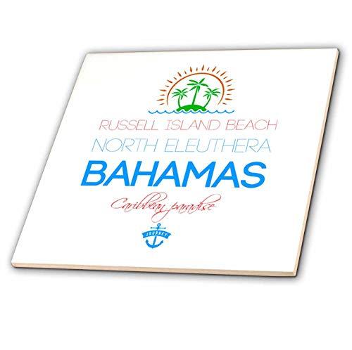 Eleuthera Floor - 3dRose Alexis Design - Caribbean Beaches Bahamas - Russell Island Beach, North Eleuthera, Bahamas. Summer vacation gift - 8 Inch Glass Tile (ct_318396_7)