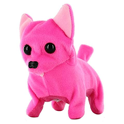 Kid's Barking Walking Wagging Chihuahua Puppy Dog Pat Toy Hot Pink (Turn Concrete Into Gold)