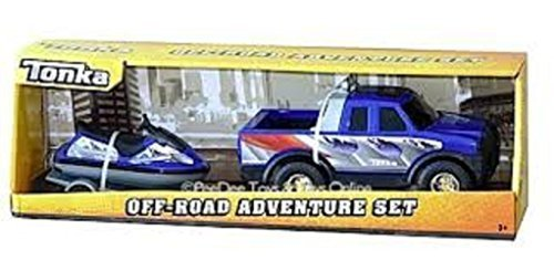 Tonka Off-road Adventure Set - Blue Pick Up Truck with Matching Blue Jet Ski