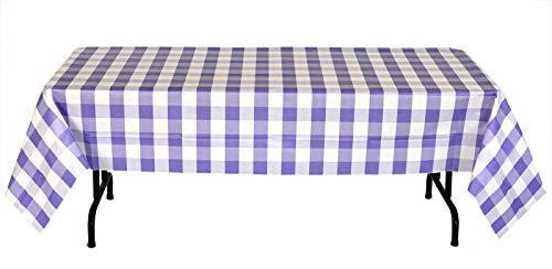 Havercamp Purple and White Plaid Table Cover |