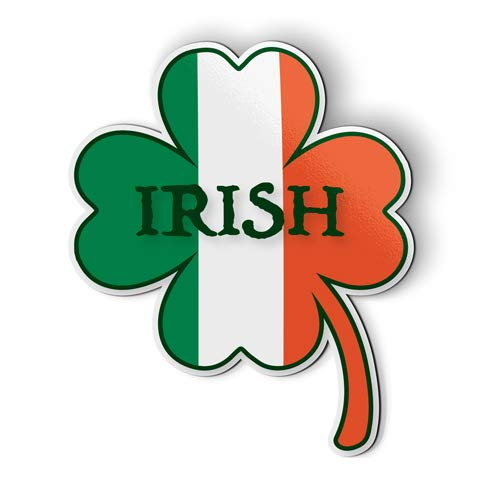AK Wall Art Irish Shamrock Flag - Magnet - Car Fridge Locker - Select Size ()