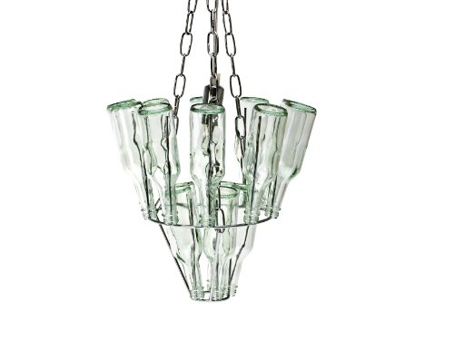Leitmotiv Mini Glass Bottle Chandelier
