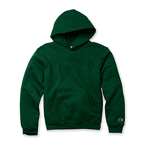 Champion Boys Big Powerblend Eco Fleece Pullover Hoodie, Dark Green, XL