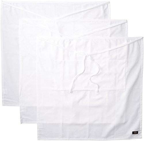 - Dickies Chef  3 Pack Full Bistro Apron with Pencil Pocket, White, One Size