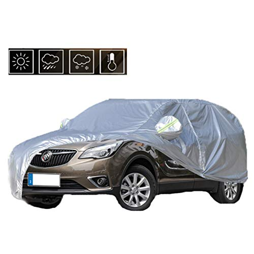 S Seat Waterproof Car Covers Waterproof Breathable, Outdoor Full Car Frost Snow Cover Sun Protection Against Wind Dust Rain UV in All Weather,for Bu-ick (Color : Weil-ANG)