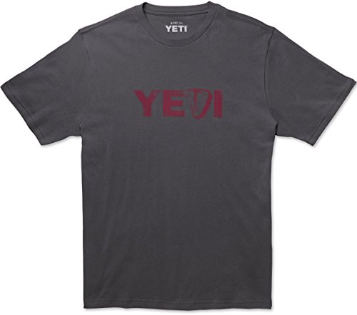 (YETI Men's 100% Cotton Steak's On T-Shirt, Short Sleeve, Medium, Charcoal )